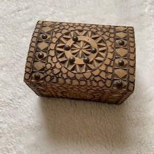 Other - Beautiful carved wooden jewelry box